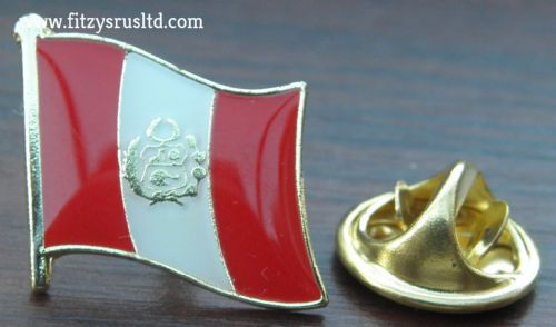 Peru Country Flag Lapel Hat Cap Tie Pin Badge Repblica del Per Peruvian New #1